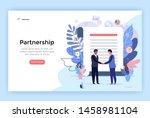 partnership and agreement... | Shutterstock .eps vector #1458981104