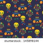 decorative pattern | Shutterstock .eps vector #145898144