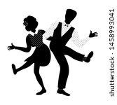couple of people dancing... | Shutterstock .eps vector #1458993041