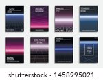 collection of vector abstract... | Shutterstock .eps vector #1458995021
