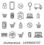 bundle of ecommerce set icons...