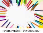 Many Colored Wooden Pencils On...