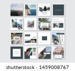 social media pack. business... | Shutterstock .eps vector #1459008767