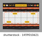 menu for restaurant and cafe.... | Shutterstock .eps vector #1459010621