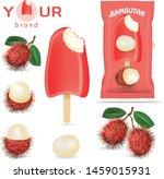 ice cream   fruit flavor...   Shutterstock .eps vector #1459015931