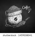 vector chalk drawn sketches set ... | Shutterstock .eps vector #1459038041