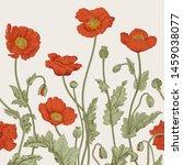 vintage illustration. seamless... | Shutterstock .eps vector #1459038077