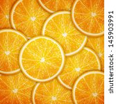 orange fruit slices background... | Shutterstock .eps vector #145903991