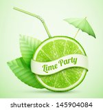 Fresh Lime With Ribbon And...
