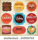 set of retro bakery label cards ... | Shutterstock .eps vector #145904765