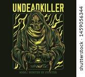 undead killer fighter series... | Shutterstock .eps vector #1459056344