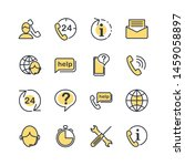 technical support line icons... | Shutterstock .eps vector #1459058897