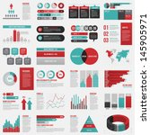 big set of infographics... | Shutterstock .eps vector #145905971