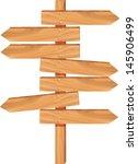 wooden arrow direction sign...   Shutterstock .eps vector #145906499