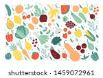 organic fruits and vegetables... | Shutterstock .eps vector #1459072961