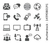 communication icons set. ... | Shutterstock .eps vector #1459080191