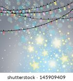 christmas background with... | Shutterstock . vector #145909409