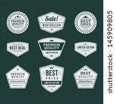 vintage labels set. vector... | Shutterstock .eps vector #145909805