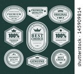 vintage labels set. vector... | Shutterstock .eps vector #145909814