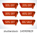 vector discount labels set.... | Shutterstock .eps vector #145909829