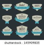 vintage labels or badges and... | Shutterstock .eps vector #145909835