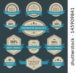 vintage labels or badges and... | Shutterstock .eps vector #145909841