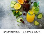 various refreshments drinks  ... | Shutterstock . vector #1459114274