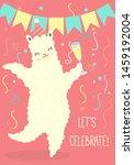 illustration of happy dancing... | Shutterstock .eps vector #1459192004
