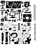 funny doodles  hand drawn  | Shutterstock . vector #145920959
