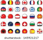 set of world flags. all... | Shutterstock .eps vector #145921217