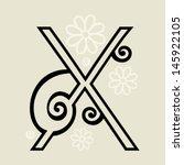 calligraphic letter x   Shutterstock .eps vector #145922105