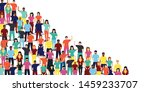 diverse people group on... | Shutterstock .eps vector #1459233707