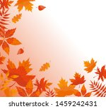 Autumn Background With Fallen...