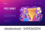 competition winner holding... | Shutterstock .eps vector #1459263254