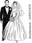 newlyweds | Shutterstock .eps vector #145927475