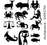 vector illustration of zodiac... | Shutterstock .eps vector #14592754