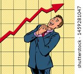 joyful businessman growth chart.... | Shutterstock .eps vector #1459281047