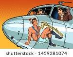 Women Pilots Girls. Pinup Man...