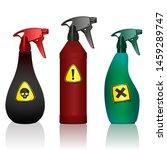 poison spray bottles. toxins ...
