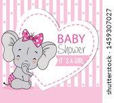 baby elephant sitting very... | Shutterstock .eps vector #1459307027