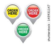 order here icons set. vector... | Shutterstock .eps vector #145931147
