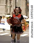 NEW YORK - JUNE 29: A parade-goer participates in the Pride Parade June 29, 2008 in New York City. - stock photo