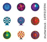 Stock vector lucky wheel icon set cartoon set of lucky wheel vector icons for web design isolated on white 1459319594