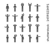 different poses stick figure... | Shutterstock .eps vector #1459323491