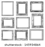 the antique frame on the white... | Shutterstock . vector #145934864