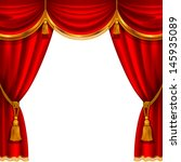theater stage with red curtain. ... | Shutterstock .eps vector #145935089