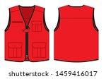 red vest design with multiple... | Shutterstock .eps vector #1459416017