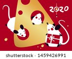 chinese happy new year 2020.... | Shutterstock .eps vector #1459426991