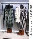 many stripy clothing  handbag...   Shutterstock . vector #1459452011