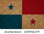 panama  grunge canvas flag | Shutterstock . vector #145946279